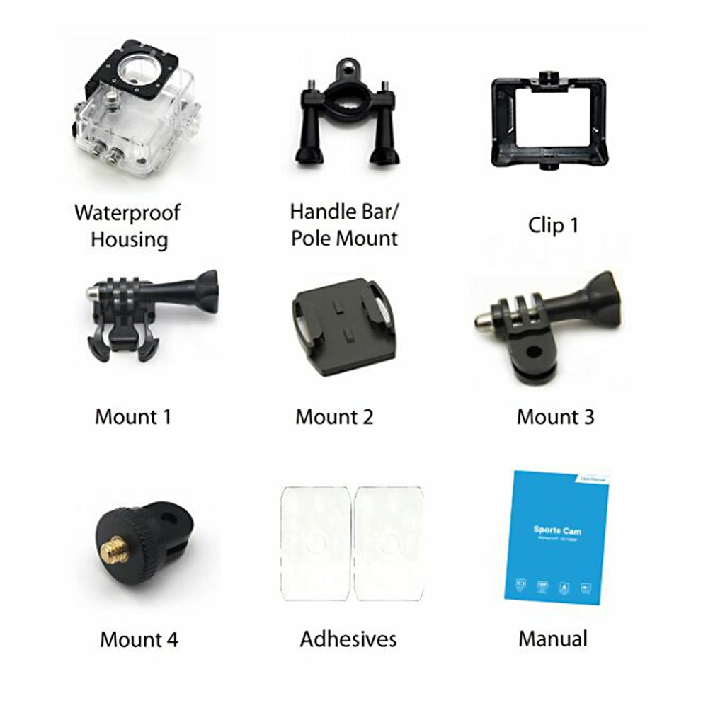 Image 5 - 1080P Mini Sport Action Camera for Climbing Riding 2 inch LCD Screen 120D Go Waterproof pro DV DVR Video Recording Helmet Camera-in Sports & Action Video Camera from Consumer Electronics