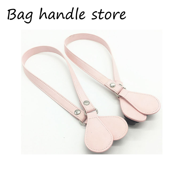 New 1 Pair 2 Pc PU Leather Drop End for Obag Handle Strap Drop Attachment for O Bag Handbag Women Bag