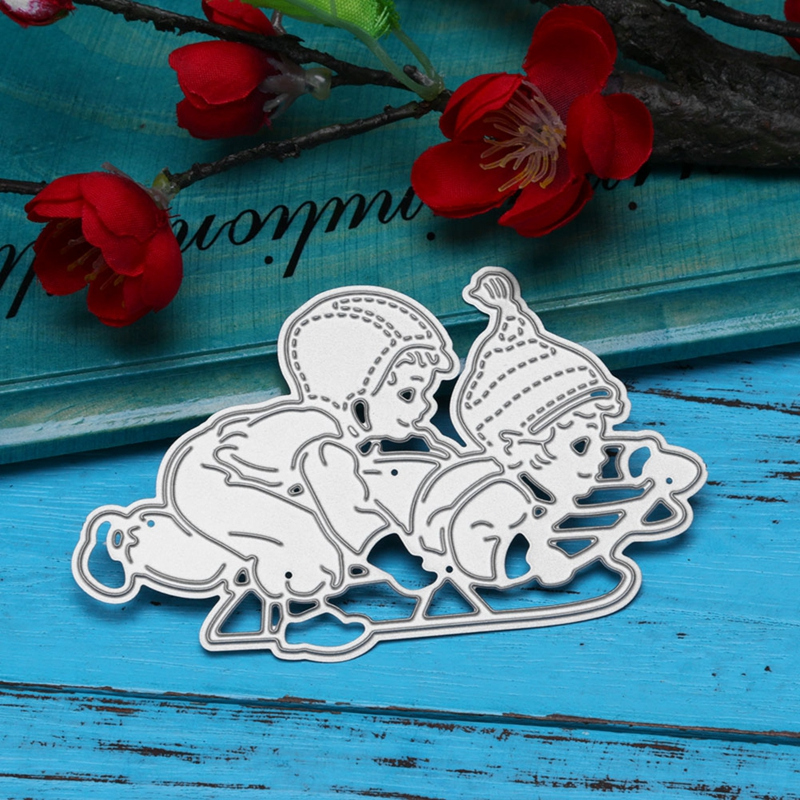 Brothers Play Games Metal Cutting Dies Stencils For DIY Scrapbooking Decorative Embossing Suit Paper Cards Die Cutting Template