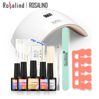 Rosalind New Arrival 10ML UV Gel Kit Soak off Gel Polish Gel Nail Kit Nail Art Tools Sets Kits SUN9C Manicure Set