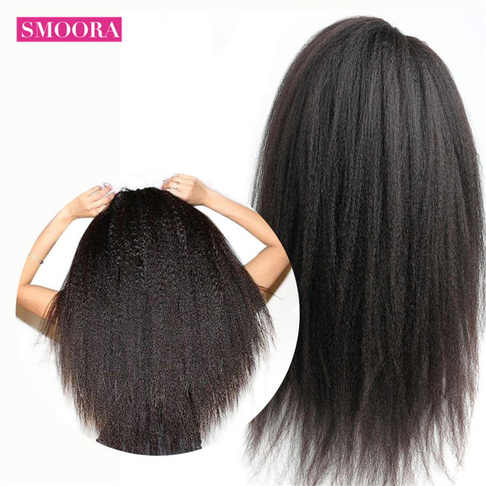 Smoora 360 Lace Frontal Wig Pre Plucked With Baby Hair   Afro Kinky Straight 360 Lace Frontal  Wigs 3