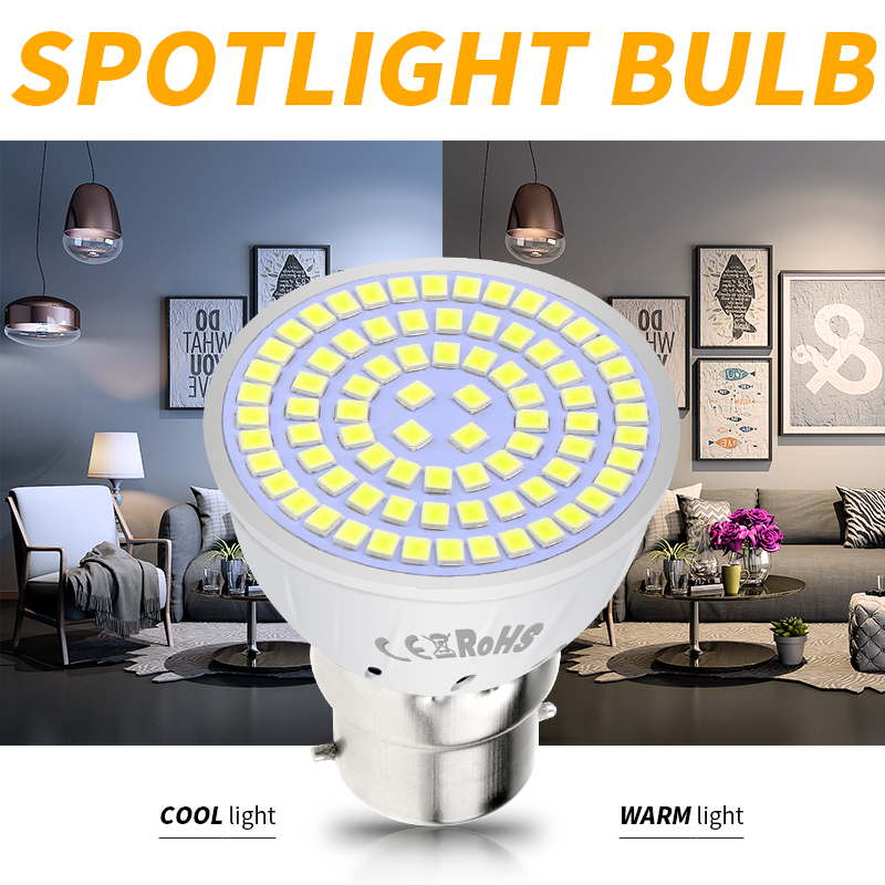 GU10 Led 220V E27 Led Bulb 4W 6W 8W Bombillas Led MR16 GU5.3 Light Emitting Diode Lamp E14 Lampadas B22 Spotlight Home Lighting
