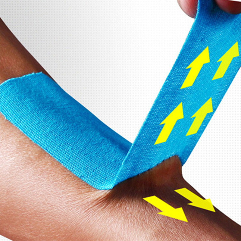 Kinesiology Tape Elastic Cotton Roll Adhesive Tape Muscle Injury Support 5cm 5cm Sports Muscle Tape Bandage Care Knee protector in Elbow Knee Pads from Sports Entertainment
