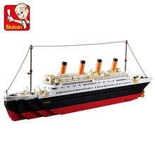 hot deal buy rms titanic model building kits city ship 3d blocks educational model building toys hobbies for children compatible with legoe