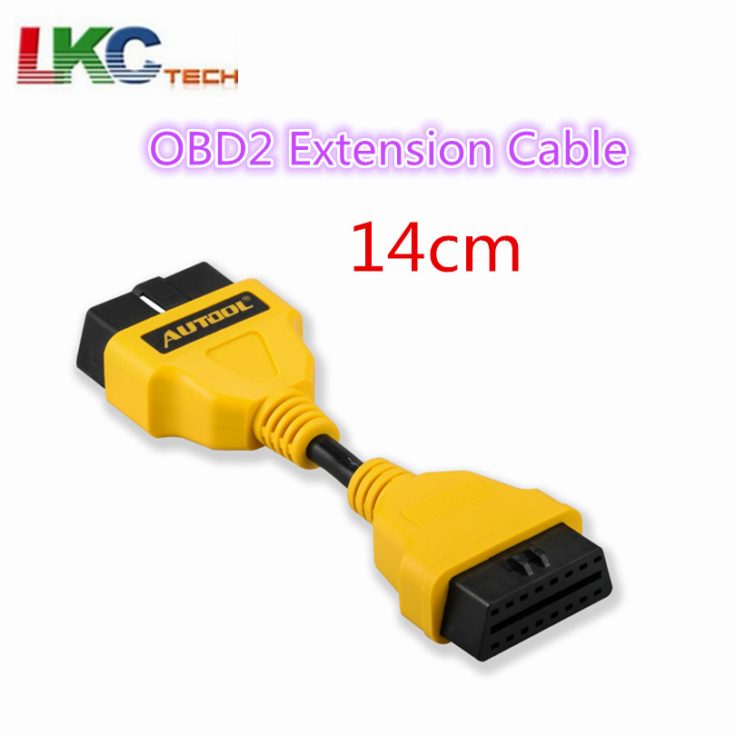 AUTOOL 14CM OBD2 Extension Cable for Launch IDIAG/Easydiag/Pro/Pro3/V/GOLO/Mdiag extend obdii cable connector OBD adapter