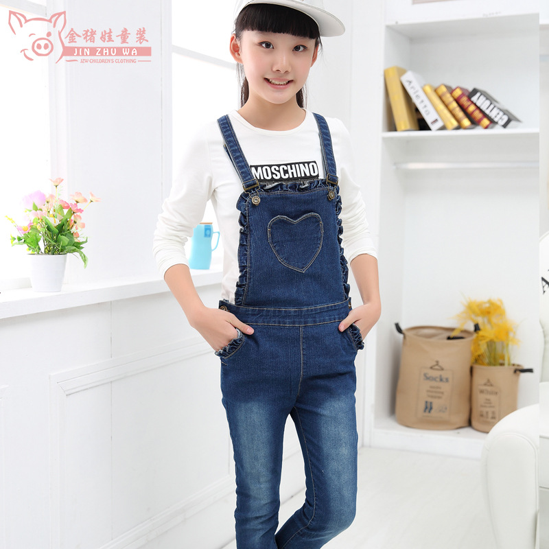 4b95ffd7d Kids Jean Overalls 2017 New Children s Clothing Spring and Autumn ...