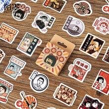 Винтаж Японский мультфильм бумага маленький дневник Мини милый коробка наклейки Набор Скрапбукинг Kawaii хлопья журнал канцелярские товары