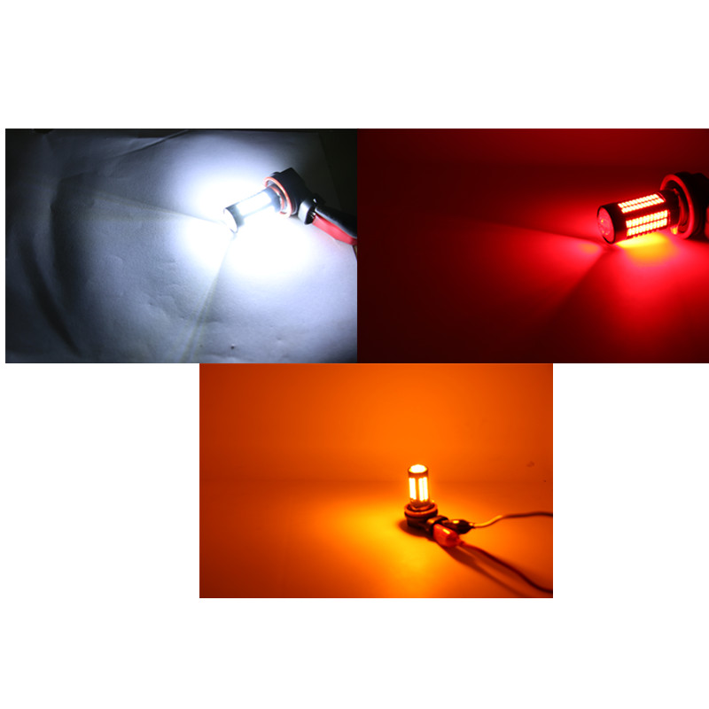 T20 7440 w21w 992 RED Samsung LED BULB reverse back up light For Acura Honda