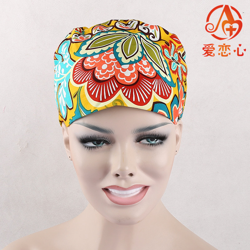 2016Rushed Sale Medical Suit Women Surgical Cap Medical Scrub Caps In Hospital And Clinic cotton comfortable adjustable   ALX-95 2016 rushed sale fashion
