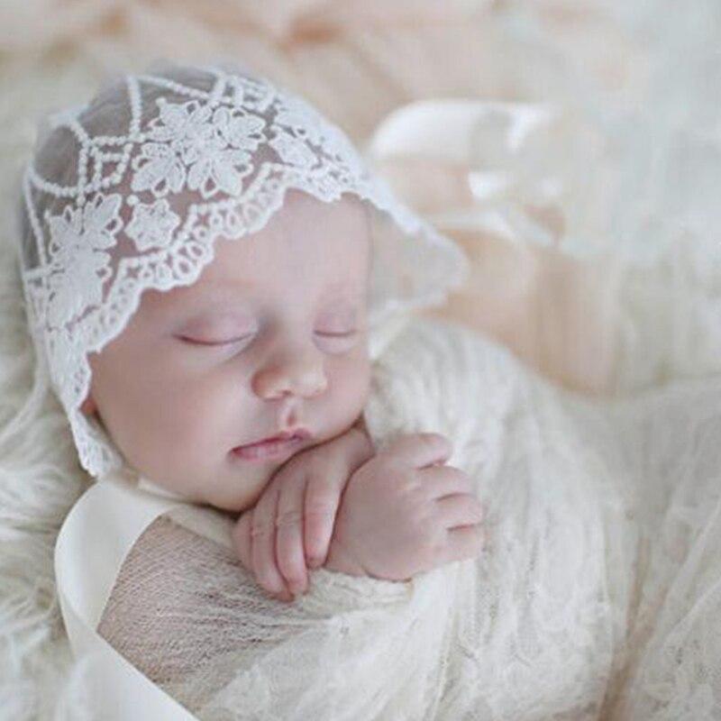 Baby Lace Hat Baby Cap Infantil Summer Newborn Photography Props Bonnet enfant Hat Photo Props Baby Newborn Props 793509