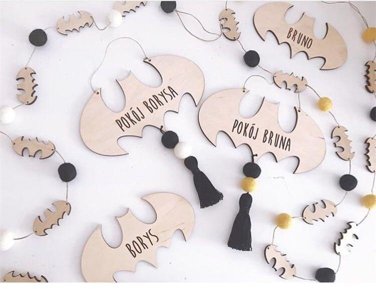 Wooden bat/tent tassel hanging decoration wall stickers with cartoon hangings of the woolen fringe hanging piece photography pro dřevěné dekorace do dětského pokoje
