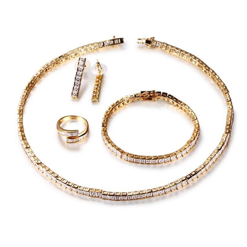 FUYIJIA ensemble de quatre pièces en or 18 K ensemble de bijoux femme bijoux de luxe dubai ensembles de bijoux personnalisé unique ensemble de collier féminin