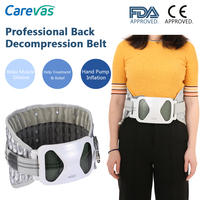 Carevas Back Decompression Support Belt Waist Lumbar Brace Spinal Air Traction Backache Pain Bone Care Tool Health 4 Sizes