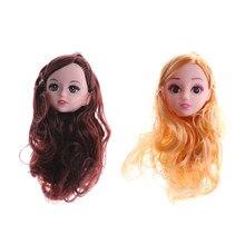 ff1383ce669 3D lifelike eye head 1/6 BJD diy head acrylic eyes head nake joints body  doll toys for girl gift present for doll