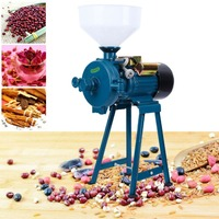 220V Electric Mill Wet Dry Cereals Grinder Corn Grain Rice Coffee Wheat with Funnel