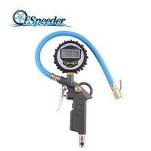 ESPEEDER 0-220psi Digital Tyre Pressure Gauge Meter Tester Manometer Air Tire Pressure Inflator Gauge  LCD Dial Tyre Tire цена