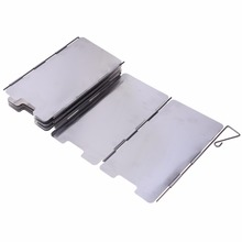 9 Plates Foldable Stove Windshield Outdoor Camping Cooking