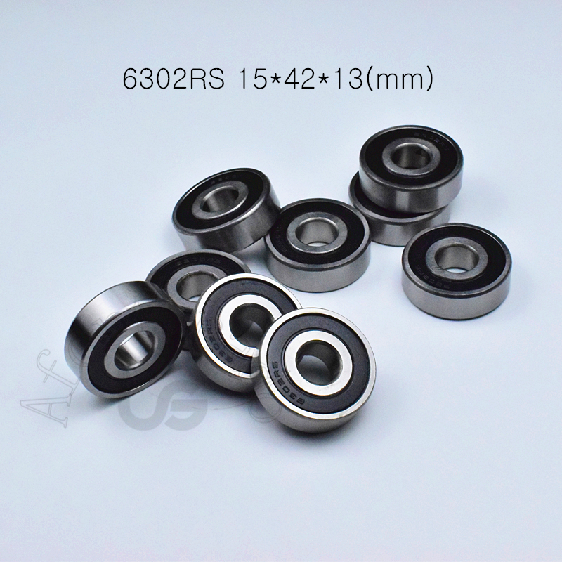 6302RS 15*42*13(mm) 1piece Bearing Free Shipping Abec-5 Rubber Sealed Bearing Thin Wall Bearing 6302 6302RS Chrome Steel Bearing
