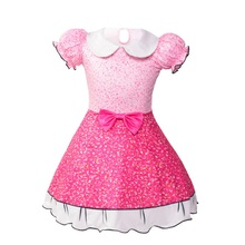 2019 new little girls cosplay dress puff sleeve princess Cinderella party childrens holiday gift 1-6 year