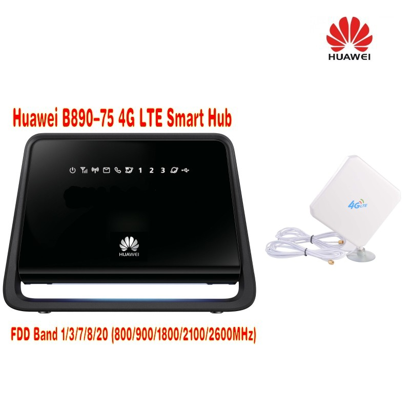 Unlocked Huawei B890 (B890-75) 4g lte router 4G LTE TDD/FDD Plus with 35dbi 4g antenna