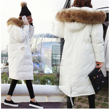 2016 new trend winter jacket girls parka girls fundamental fake fur hood unfastened oversize military inexperienced white lengthy coat prime quality