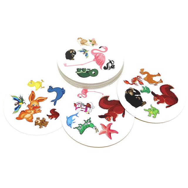 Kid's Flash Pair Animals Board Game
