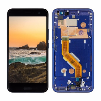 100% Tested For HTC U11 Lcd  Display Touch Screen Assembly with Frame 2560*1440 For HTC U-3w U-1w U11 LCD