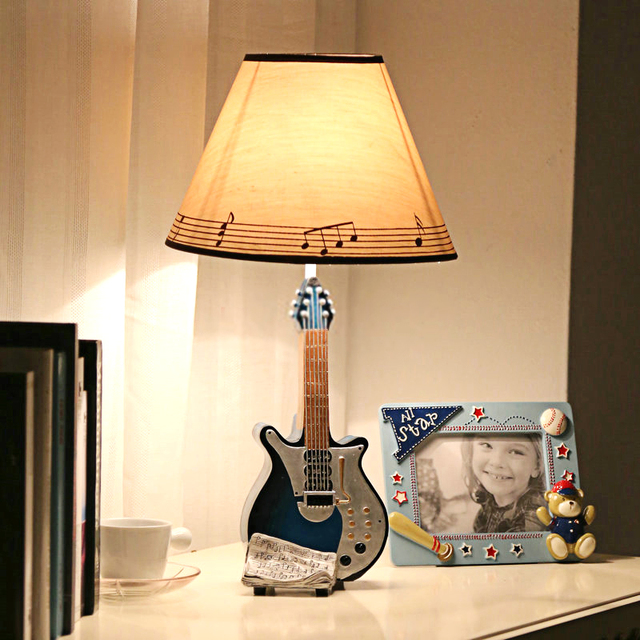 Dimming guitar music guitar music bell desk lamp cartoon lamp dimming guitar music guitar music bell desk lamp cartoon lamp bedroom lamp table lamp decorated cute aloadofball Image collections