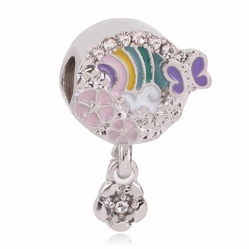 Fit oryginalny Pandora Charms srebro 925 bransoletka ozdoba biżuteria dla kobiet Man Making 2019 nowy nieskończony połysk słodki koralik domu
