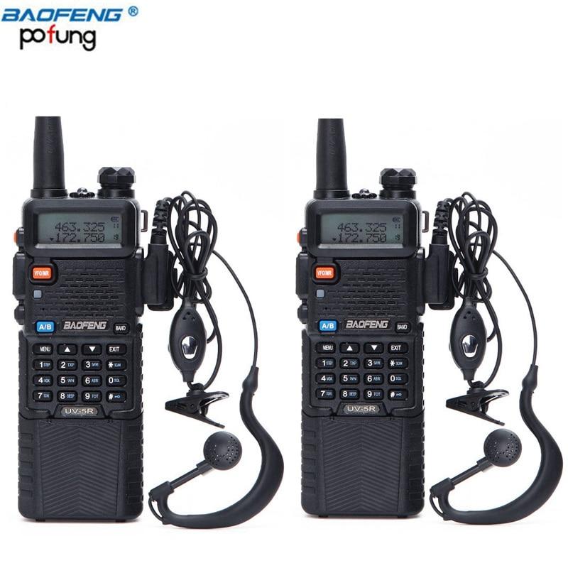 2PCS Baofeng UV 5R 3800 Walkie Talkie 5W Dual Band UHF 400 520MHz VHF 136 174MHz