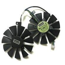 Gtx1070 rx480 rx570 vga gpu cooler fan t129215bu para asus EX-GTX1070-O8G DUAL-RX480-O4G EX-RX570-O4G placa de vídeo gráfica refrigeração