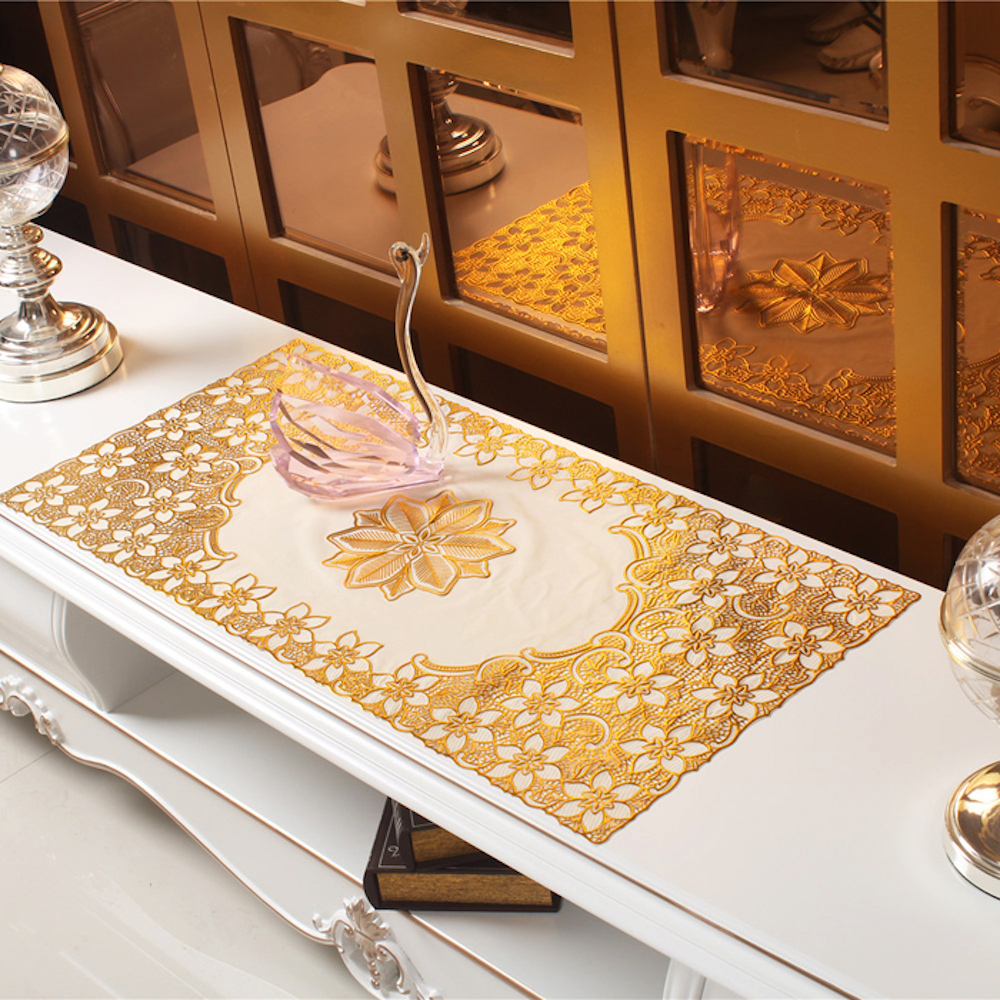 popular silver table mats buy cheap silver table mats lots from pvc tablecloth tv bench coffee dining tea table decorative cover mat pad floral table cloth 40