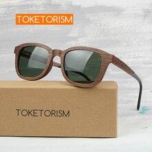 Toketorism trendy wood sunglasses retro polarized glasses woman and man shades 2603