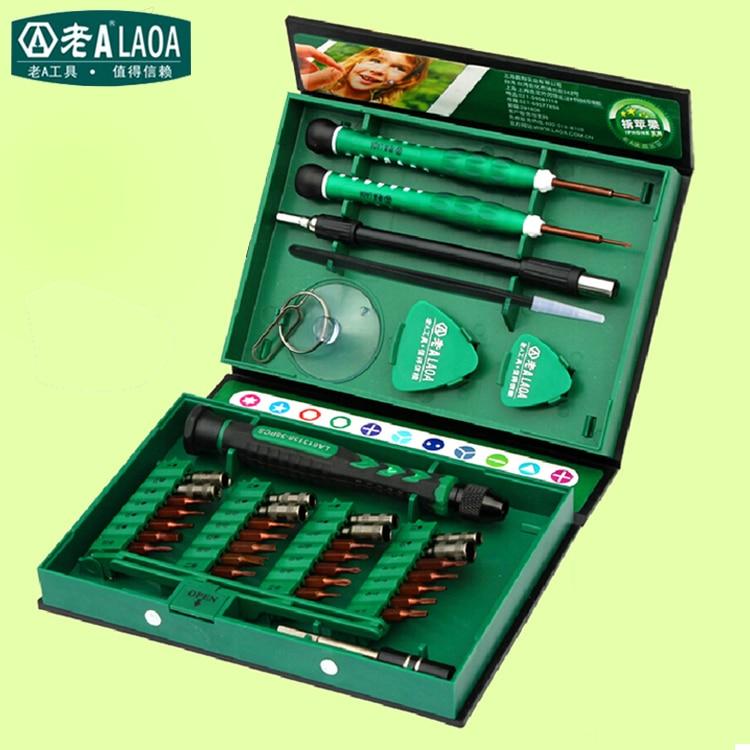 buy laoa brand 38 in 1 screwdriver set precision repair tools kit s2 alloy. Black Bedroom Furniture Sets. Home Design Ideas