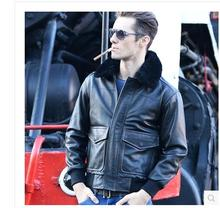 DHL.Free Shipping.Top Brand winter warm genuine fur leather jacket.motorcycle jackets,men plus size clothing,rider