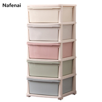 Nafenai Minimalist Modern Cloth Wardrobe Baby Storage Cabinet Folding Box with wheels individual Closet Bedroom Furniture
