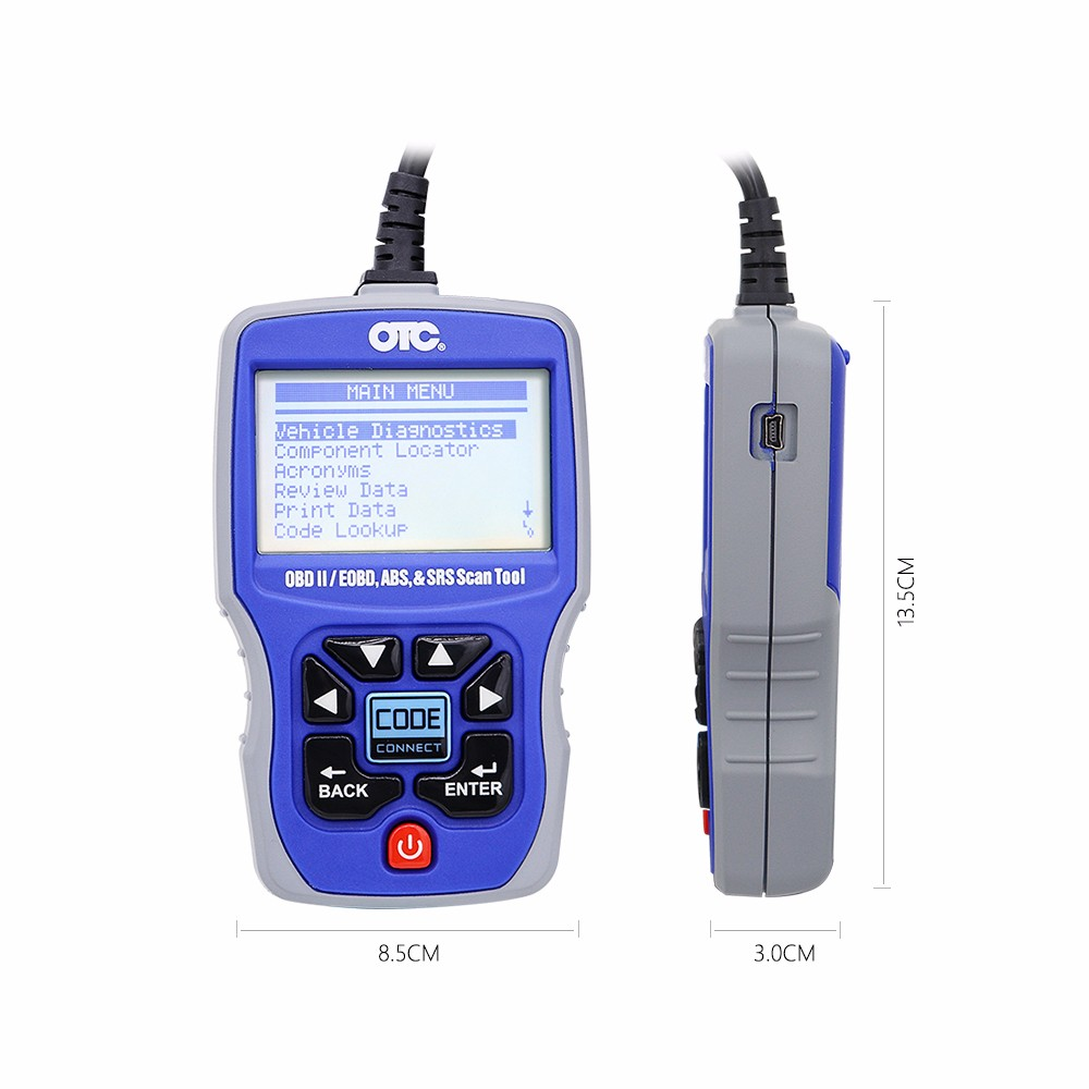 Otc 3111 Pro Obd2 Scanner Obd2 Code Reader Obdiicanabsairbag Srs