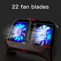 BASEUS Universal Mobile Games Hand Handle Game Playing Cooling Phone Holder Bracket Dual Fans Heat Dissipate Noise Reduction
