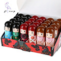 24pcs Cute Cartoon Kimono Doll Lip Balm Moisturizing Long Lasting Waterproof Lipstick For Women Girls Lip Makeup Hot Selling
