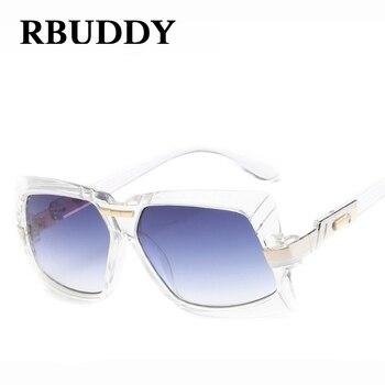 RBUDDY Women Sunglasses Square Metal Frame Leopard Gradient UV400 Casual Sunglasses Women Sunglasses lunette de soleil femme