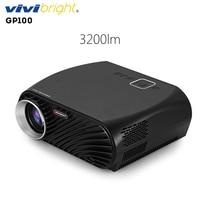Original VIVIBRIGHT GP100 Projector Full HD 3200 Lumen 1080P WiFi LED LCD Home Theater Cinema Video Projector