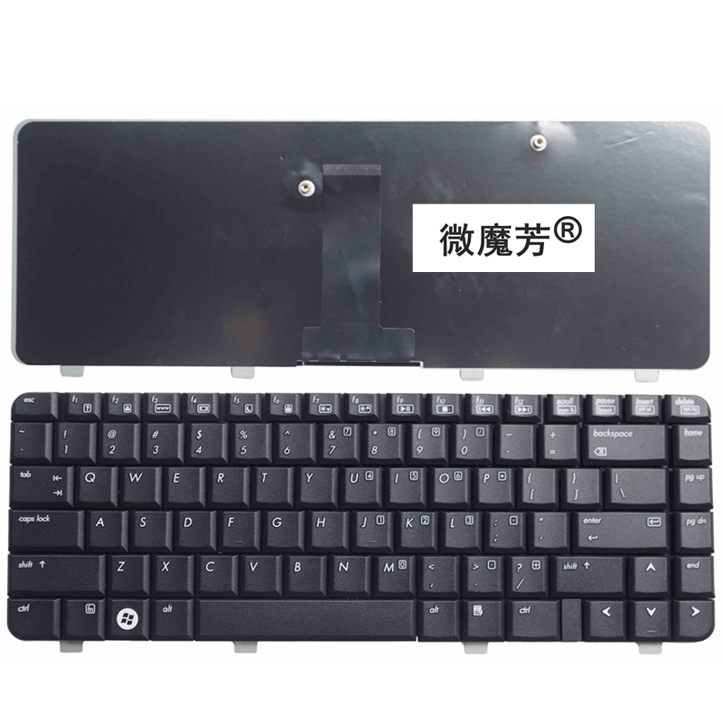 US Black New English For HP 530 Laptop Keyboard