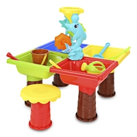 Kids Sand Pit Set Water Square Dolphin Beach Table Toy Playing Sand Dredging Tool for Children Outdoor Garden Home play house