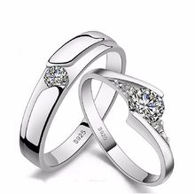 23 kinds lover rings Endless Love Engagement Wedding Couple Rings Aneis Mens Jewelry Commitment Rings white gold jewelry(China)
