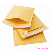 Best Price 50 pcs/lot  strong Self-Adhesive Padded Envelope Shipping Yellow Post Bag Universal 122*178 40mm Kraft Bubble