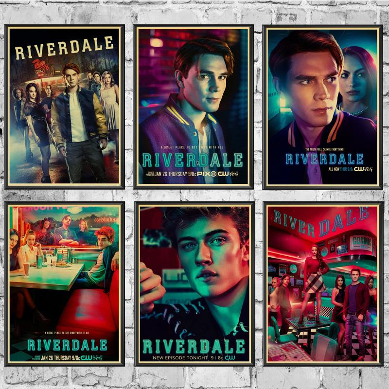 TV Series Riverdale Poster Wall Stickers Vintage Poster Prints High Quality For Living Room Home Decor