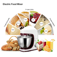 Multifunctional Electric Dough Mixer Eggs Blender 4.2L Kitchen Stand Food Milkshake/Cake /Dough Maker Kneading Machine 220v 800w