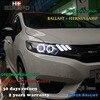 Hireno Car Styling Headlamp For 2014 2017 Honda Fit Jazz Headlight Assembly LED DRL Angel Lens