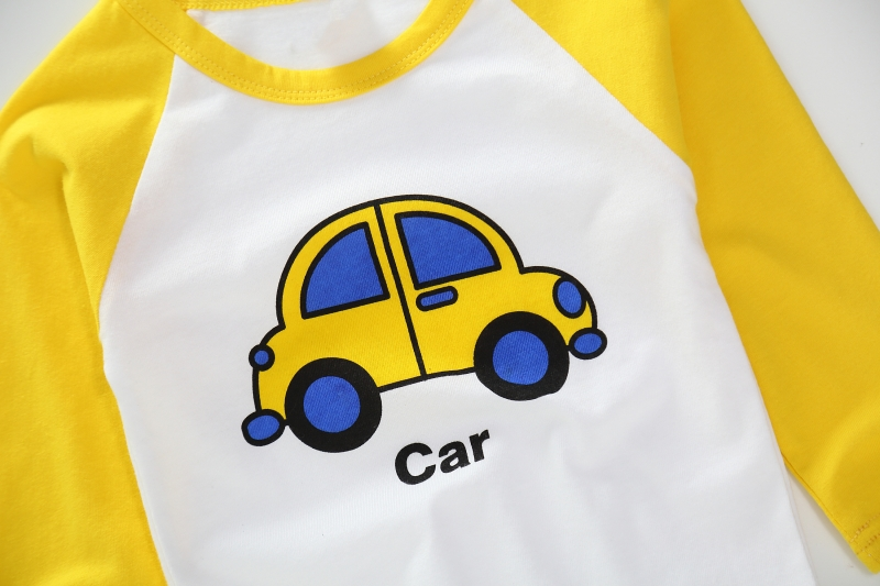 New Spring Boys Girls Cartoon Cotton T Shirts Children Tees Boy Girl Long Sleeve T Shirts Kids Tops Brand Baby Clothes 12M-8Y 36