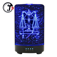 100ML Air Ultrasonic Humidifiers Fogger Mist Maker with LED Colorful Light 3D Air Humidifier Aroma Essential Diffuser for Home